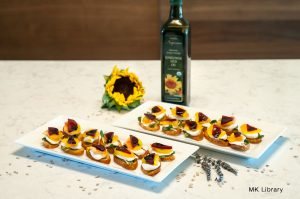 sunflower beet brushetta finished