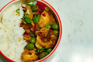 moroccan chicken tagine featured