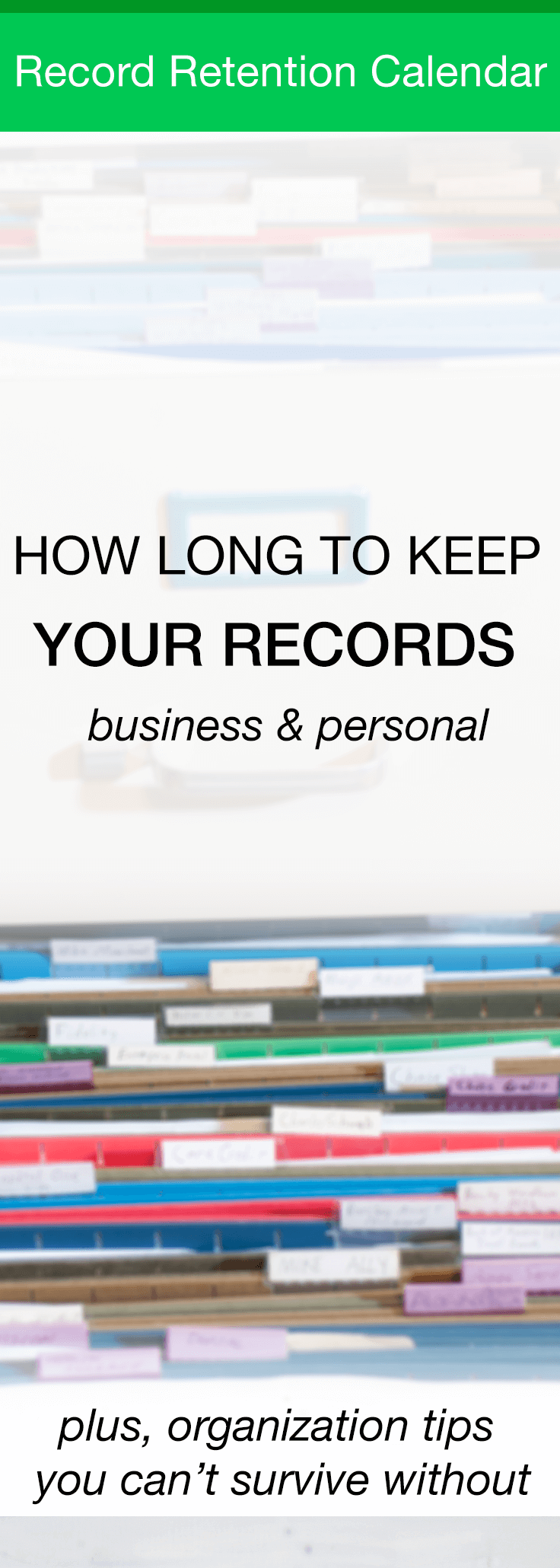 How long to keep records personal and business mk library related reheart Images