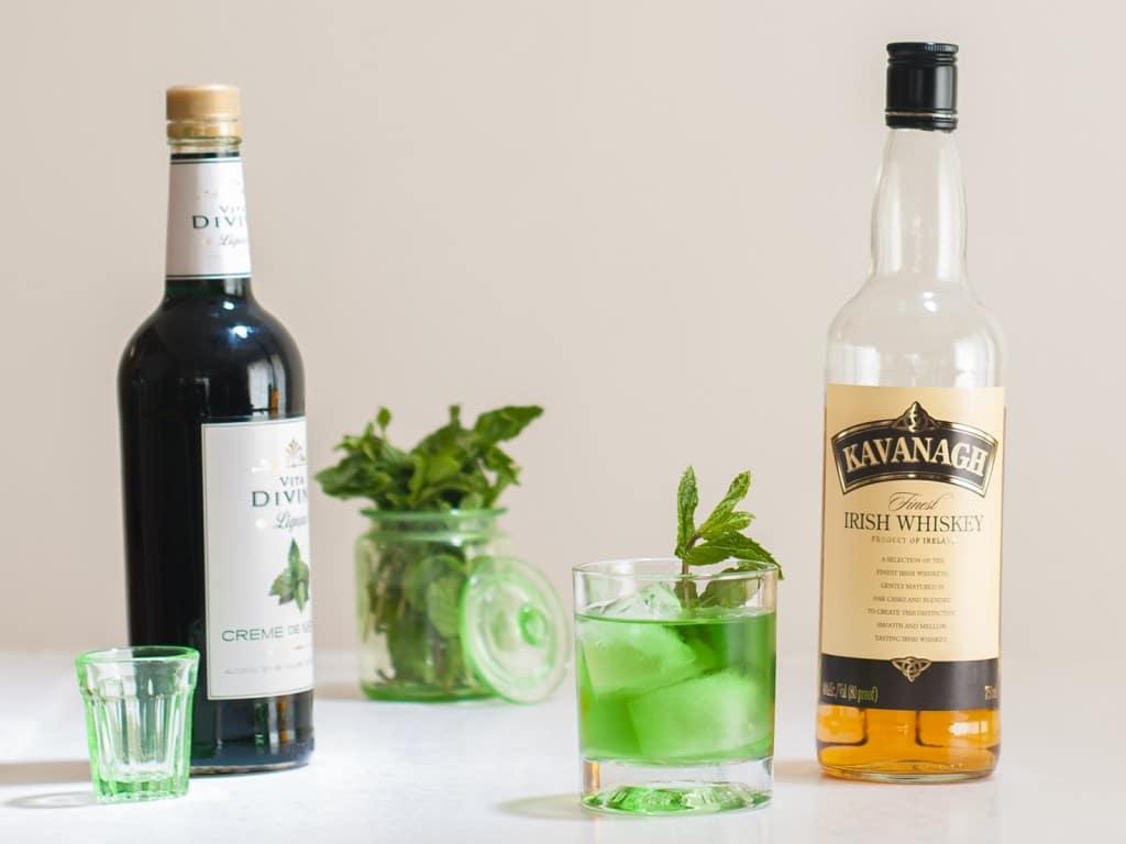 Leprechauns Green Gold Irish Whiskey Cocktail