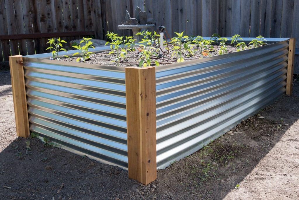 How to build a corrugated metal raised bed mk library for Corrugated metal raised garden beds