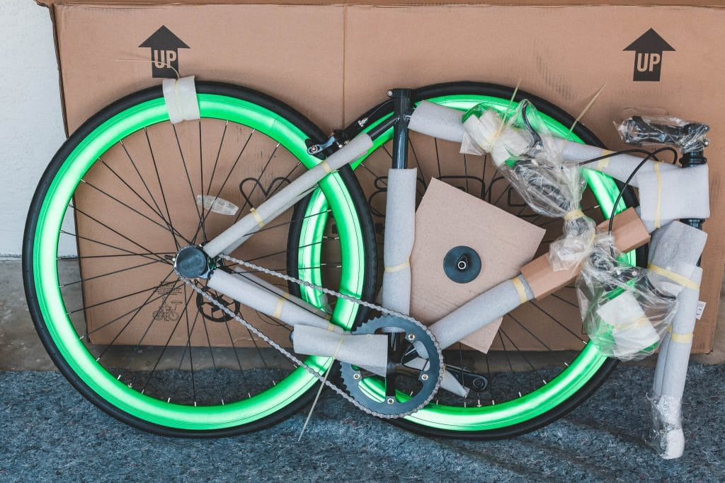 vilano fixed gear bike out of box disassembled