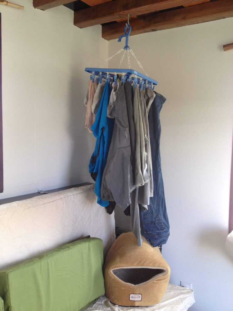 Drip hanger in tiny home